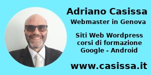 Adriano Casissa Webmaster in Genova